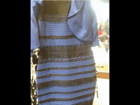 See dress as blue and gold