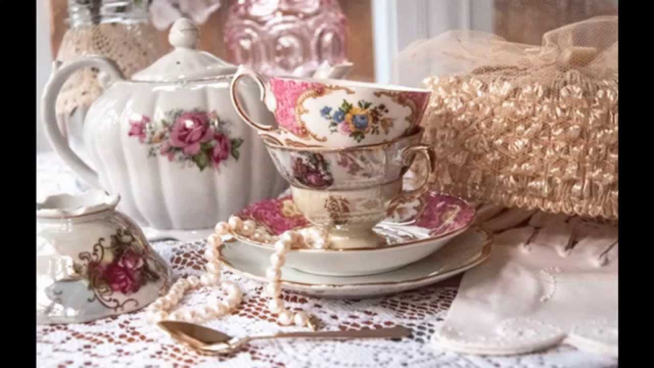 Vintage tea party decorations at home - YouTube