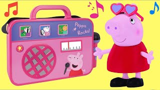 PEPPA PIG COMPILATION with Boom Box, Castle & Classroom Playset