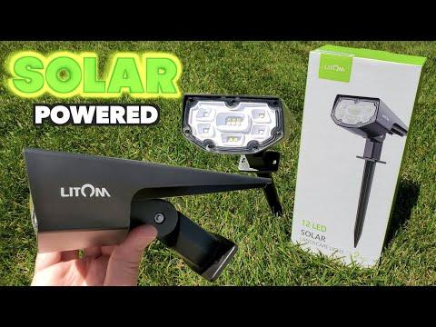 12 LED Solar Landscape Lights! | LITOM | From Amazon
