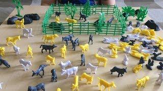 Видео для детей. Ферма в банке. Обзор фигурок животных
