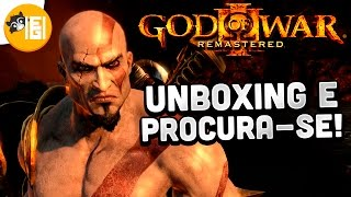 UNBOXING GOD OF WAR III REMASTERED E PROCURA-SE!!