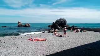 Симеиз 31 Мая 2018 пляж Башмак и городской пляж