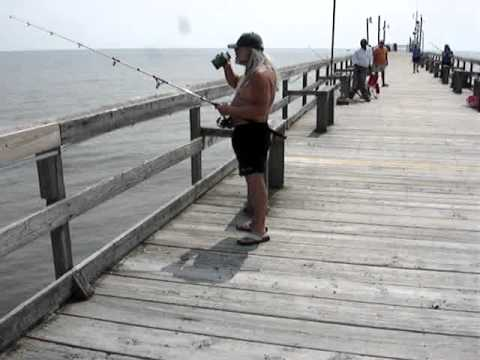 Sunset Beach Nc Bucket Of Fish Caught Off The Pier And Talking To Anglers