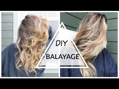 Diy balayageombr hair at home youtube diy balayageombr hair at home solutioingenieria Image collections