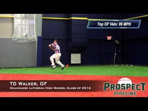 TD Walker Prospect Video, OF, Milwaukee Lutheran High School Class of 2016