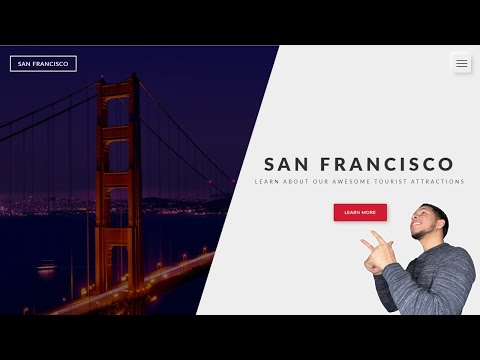 Responsive Website Landing Page With GSAP Animations | HTML And CSS Tutorial