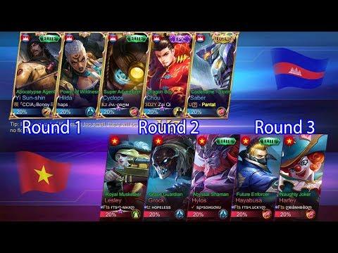 Mobile Legend.Bang Bang - Cambodia VS Vietnam -( Round 1.2.3  Direclor- mp4