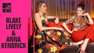 blake lively anna kendrick on a simple favor working w paul feig cinemacon mtv news