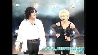 Raffaella Carrà Gianfranco D'Angelo imitano Madonna e Micheal  Jackson 1991