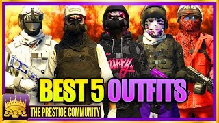 🔥 NEW Top 5 BEST Tryhard & RnG Modded Outfits Using EASY GTA 5 Clothing Glitches 1.44/1.45! Clothes