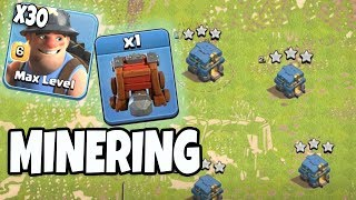 30 Max Miner Siege Machine Archer Queen Walk TH12 New Update 3 Star Attack Strategy | Clash Of Clans