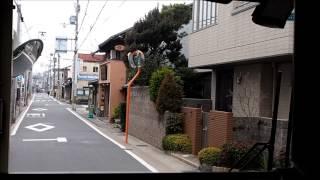 【京都市バス】 納所から淀への狭路を走る20系統(2014.02.03) 前面展望