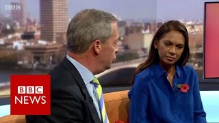 Nigel Farage to Gina Miller 'What part of leave don't you understand?' BBC News