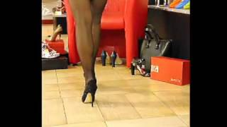 Красивые женские туфли на шпильках