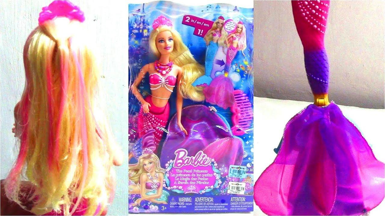 Barbie The Pearl Princess Mermaid 2 In 1 Barbie Doll
