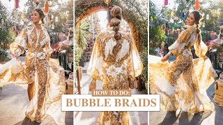 HOW TO DO BUBBLE BRAIDS | Pia Muehlenbeck Hair Look Tutorial