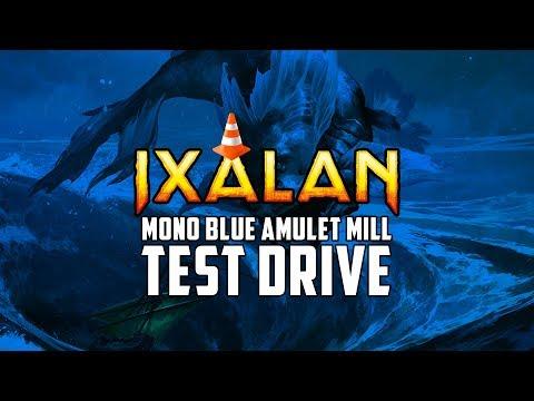 Mono Blue Amulet Mill Ixalan Standard Test Drive | MTGO Stream