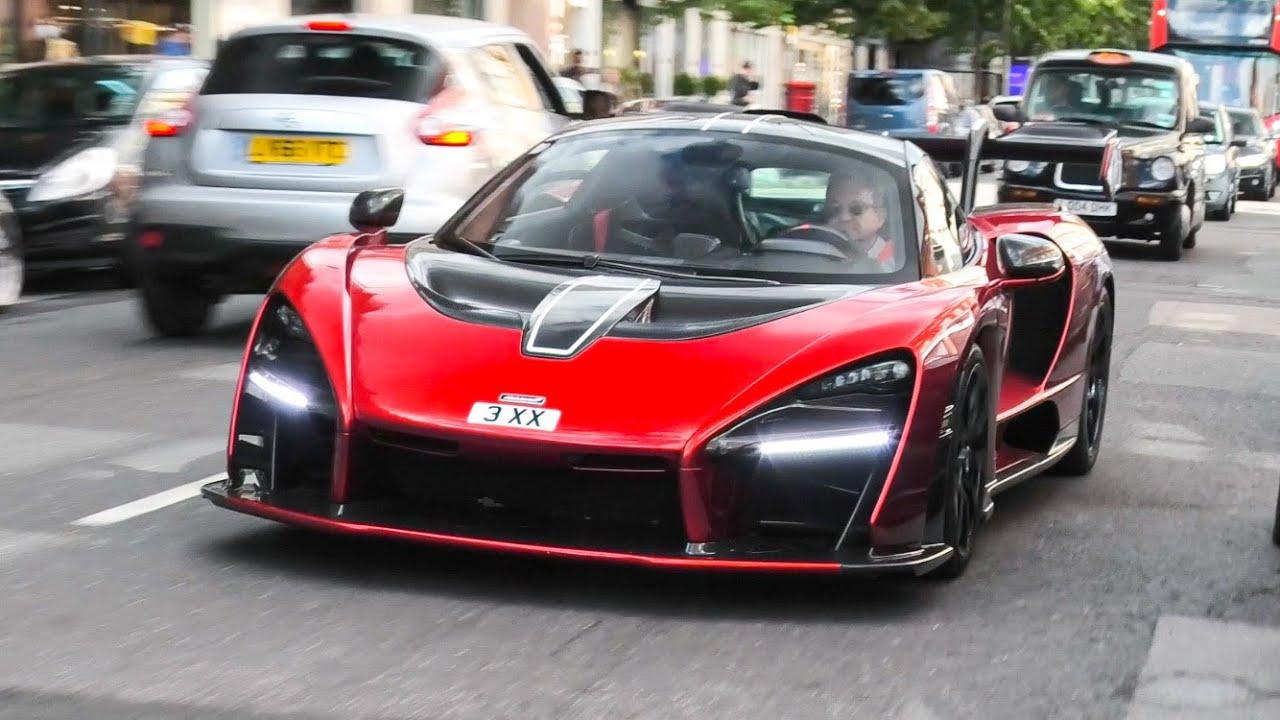 SuperCars in London June 2020 - Senna, SVJ Roadster, Taycan!