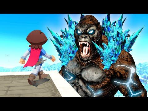 Combining GODZILLA And KONG In GTA 5!