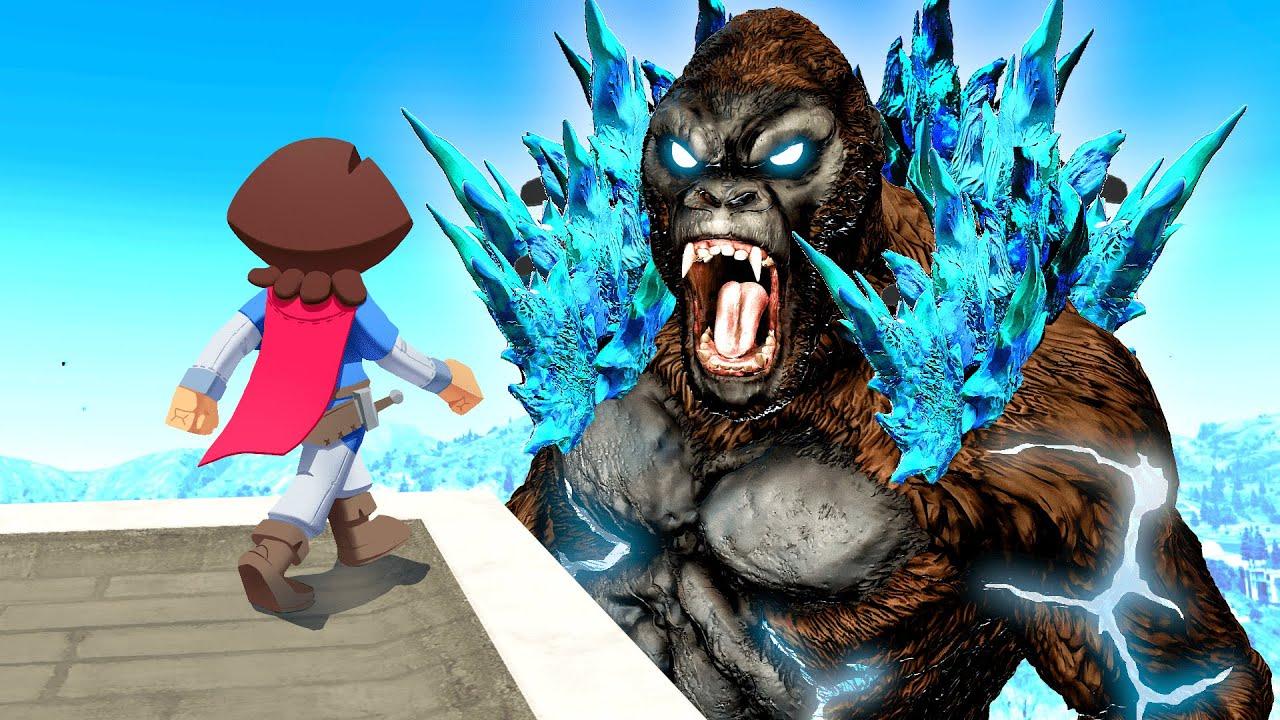Download Combining GODZILLA And KONG In GTA 5!