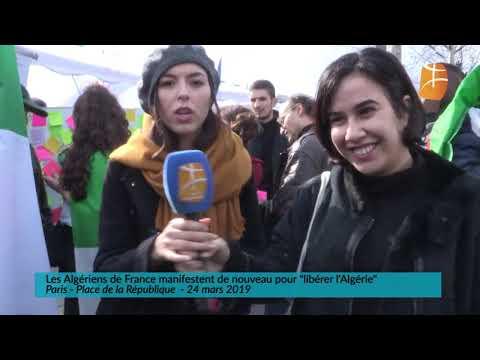 Les Algériens de France manifestent de nouveau pour libérer l'Algérie Paris