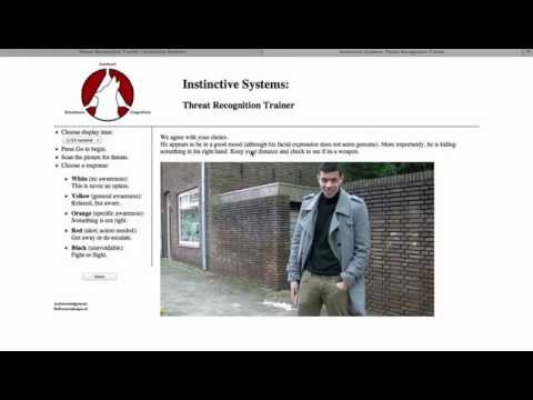 Threat Recognition Trainer - a demo