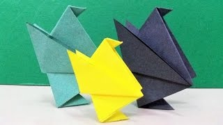 How to make an origami paper bird (chick) | Origami / Paper Folding Craft, Videos and Tutorials.