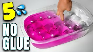 Testing NO GLUE WATER SLIME recipes from JSH! WATER SLIME!