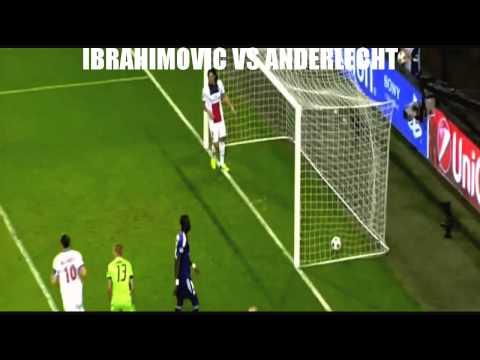 IBRAHIMOVIC VS ANDERLECHT ALL 4 GOALS HD