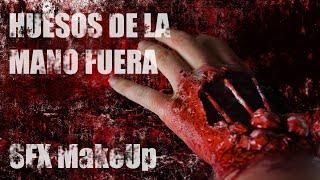 Maquillaje FX Huesos fuera de la mano / SFX Bones out of hand Makeup Tutorial