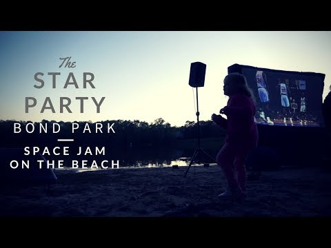 Watching Space Jam on the beach | Star Party Bond Park | #The100DayProject | Main Street Citizens