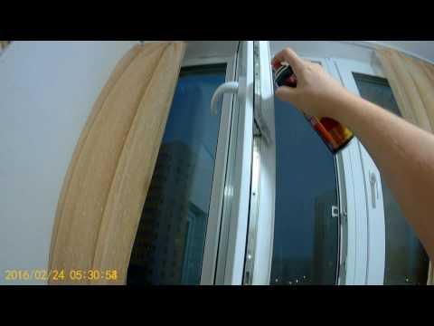 Смазка пластиковых окон самостоятельно видео