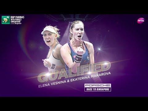 Makarova and Vesnina qualify for WTA Finals