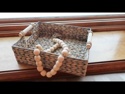 EASY WOOD BEAD GARLAND DIY FOR HOME! | beingmommywithstyle