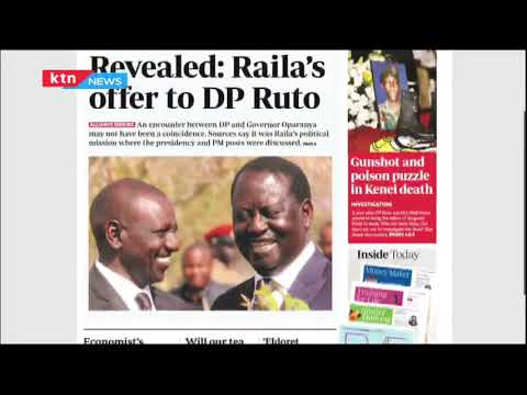 Revealed: Raila's offer to DP Ruto | The Standard