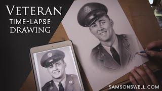 Veteran Timelapse Drawing