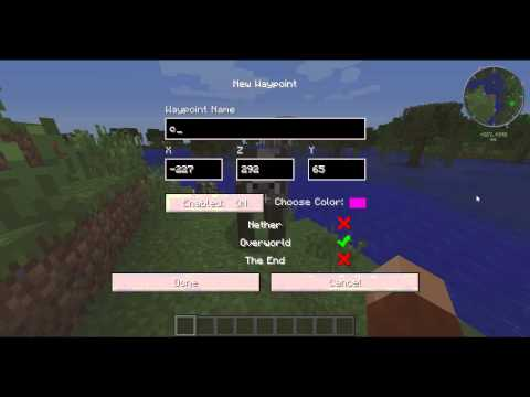 How to use Waypoints in Minecraft