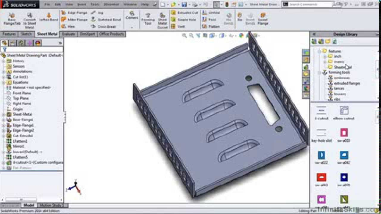 Solidworks Sheet Metal Tutorial Sheet Metal Drawings