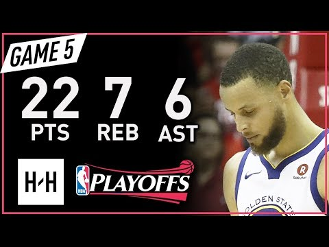 Stephen Curry Full Game 5 Highlights vs Rockets 2018 NBA Playoffs WCF - 22 Pts, 7 Reb, 6 Ast!