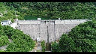 長野県松本市にある、水上ダムの空撮です。 ダムカード配布しています。...