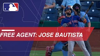 Jose Bautista enters free agency in 2019