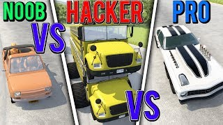 BeamNG Drive - NOOB vs PRO vs HACKER #8 (Crashes & Stunts)