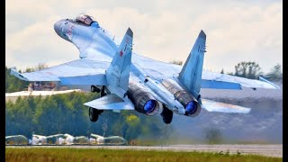Takeoff and Landing Russian Military Aircrafts & Fighters Jets