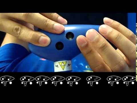 HOW TO PLAY CLOCK TOWN THEME from Legend of Zelda - 7-hole ocarina - [SONGBIRD OCARINA]