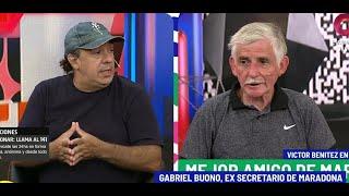 Conversamos con Gabriel Buono, ex secretario de Diego Maradona, que se defiende de los dichos de Víctor Benítez, quien acusó que él se encargaba de ...