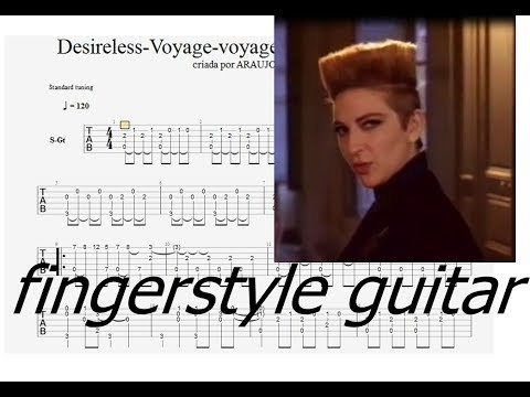 Desireless - Voyage Voyage Fingerstyle guitar (tabs)