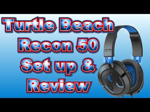 Turtle Beach Recon 50 Set Up & Review
