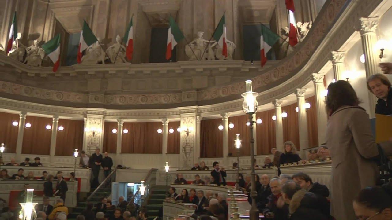 Il primo senato italiano rivive a palazzo madama youtube for Il senato italiano