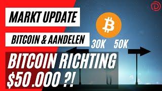 Bitcoin Richting 50k ?! | Live Koers Update Bitcoin & Aandelen !